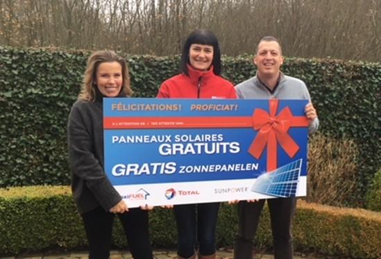 De familie Maes heeft 25 jaar gratis elektriciteit gewonnen!