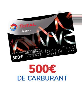 Gagnez 500 € de carte carburant pour votre voiture