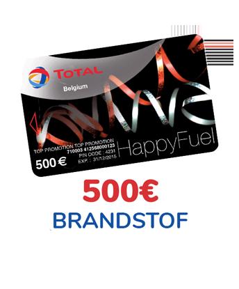 Win 500 € brandstof voor uw wagen