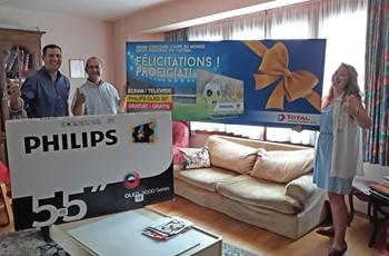 ProxiFuel Brabant offre une télévision Philips à l'un de ses clients !