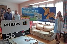 ProxiFuel Brabant schenkt een Philips televisietoestel aan één van hun klanten!